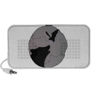 WolfBat Moon Laptop Speakers