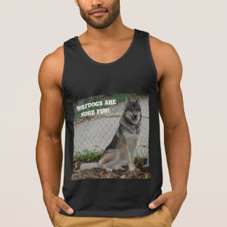 Wolfdogs are more fun! singlet