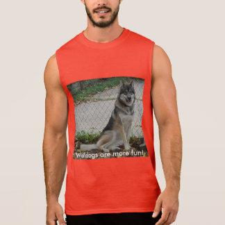 Wolfdogs are more fun! sleeveless shirt