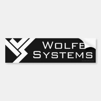 Wolfe Systems bumper sticker Car Bumper Sticker
