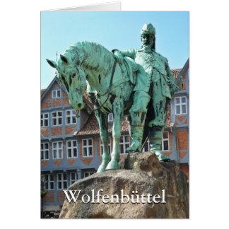 Wolfenbüttel 01.02, rider monument (Wolfenbuettel) Card