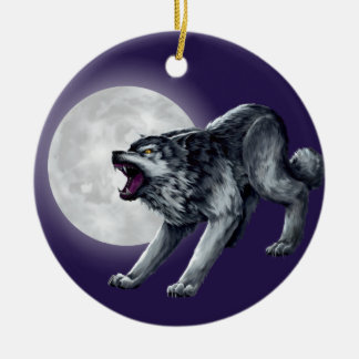 Wolfe's Wolf Ceramic Ornament