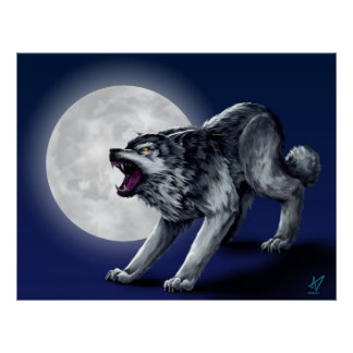 Wolfe's Wolf Print