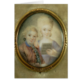 Wolfgang Amadeus Mozart  and his sister Card