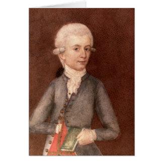 Wolfgang Amadeus Mozart, c.1780 Card
