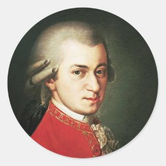 Wolfgang Amadeus Mozart Classic Round Sticker