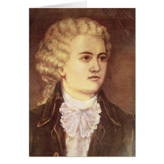 Wolfgang Amadeus Mozart  during his stay Card