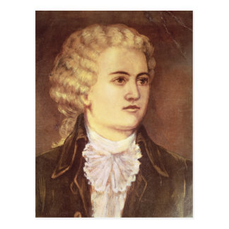 Wolfgang Amadeus Mozart  during his stay Postcard