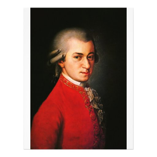 Wolfgang Amadeus Mozart portrait Personalized Flyer