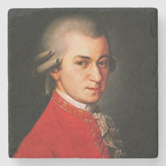 Wolfgang Amadeus Mozart portrait Stone Beverage Coaster