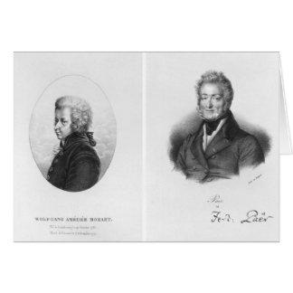 Wolfgang Amedeus Mozart  and Ferdinando Paer Card