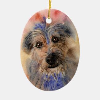 Wolfie Ceramic Ornament