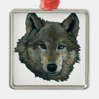 Wolfie Metal Ornament
