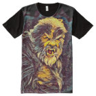 Wolfman Variant Dark Horror Art All-Over Print T-Shirt