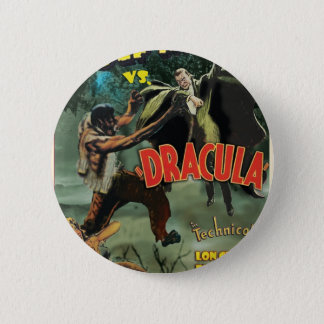 WOLFMAN VS DRACULA by Philip J. Riley 6 Cm Round Badge