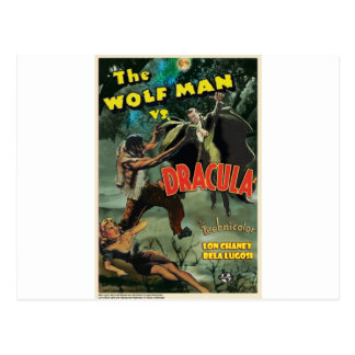 WOLFMAN VS DRACULA by Philip J. Riley Postcard