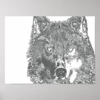Wolf's Gaze Poster