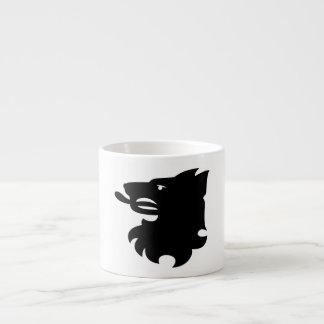 Wolf's Head Heraldry Silhouette Mug
