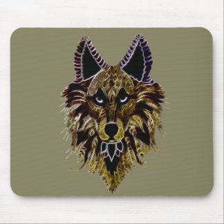 Wolf's Head Mouse Pad