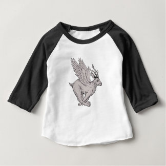 Wolpertinger Running Side Drawing Baby T-Shirt