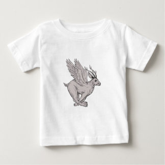 Wolpertinger Running Side Drawing Baby T-Shirt