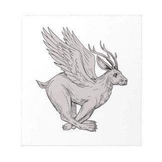 Wolpertinger Running Side Drawing Notepad