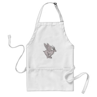 Wolpertinger Running Side Drawing Standard Apron