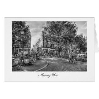 Wolvenstraat Singel Bridge - Missing You Greeting Card