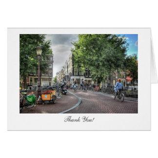 Wolvenstraat Singel Bridge - Thank You Greeting Card