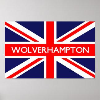 Wolverhampton UK Flag Poster