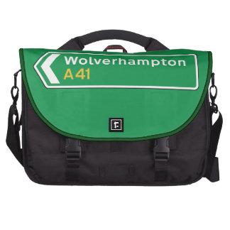 Wolverhampton, UK Road Sign Bags For Laptop