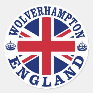 Wolverhampton Vintage UK Design Classic Round Sticker