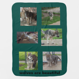 wolves are beautiful baby blanket