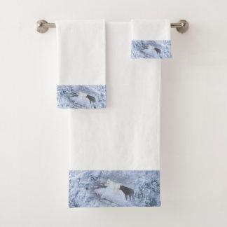 Wolves Christmas Bath Towel Set