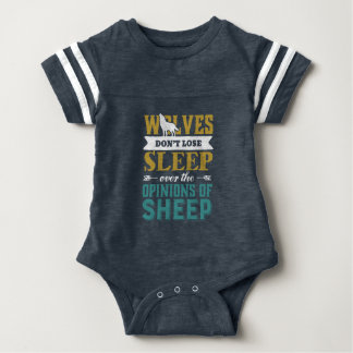Wolves Don't Lose Sleep Over Opinion Of Sheep Baby Bodysuit
