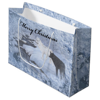 Wolves Gift Bag - Large, Glossy