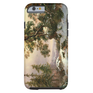 Wolves in a Winter Landscape (oil on panel) Tough iPhone 6 Case