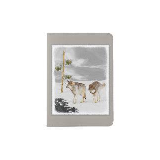Wolves in Snow Passport Holder