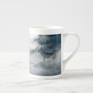 Wolves in Snowy Winter Landscape Tea Cup