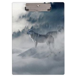 Wolves In Winter Clipboard