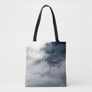 Wolves In Winter Tote Bag
