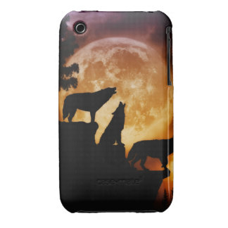 Wolves Peak Blackberry Curve Case/Cover iPhone 3 Covers