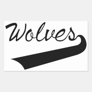Wolves Rectangular Sticker