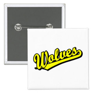 Wolves script logo in yellow button