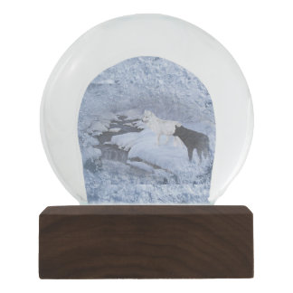 Wolves Snow Globe