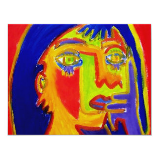 Woman Abstracted by Piliero 11 Cm X 14 Cm Invitation Card