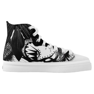 Woman amongst flowers lace tennis shoes printed shoes