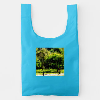 Woman and child baggu reusable bag