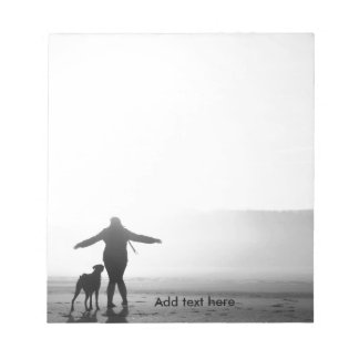 Woman and Dog - The Only Ones in the World Notepad