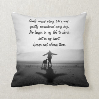 Woman and Dog - The Only Ones in the World Throw Pillow